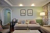 120平米,三室两厅美式风格  ---美式风格